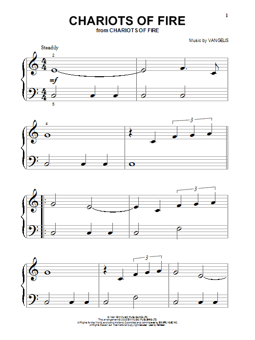 Vangelis Chariots Of Fire sheet music notes and chords. Download Printable PDF.