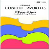 Various Kendor Concert Favorites - 1st Violin Sheet Music and Printable PDF Score | SKU 124770