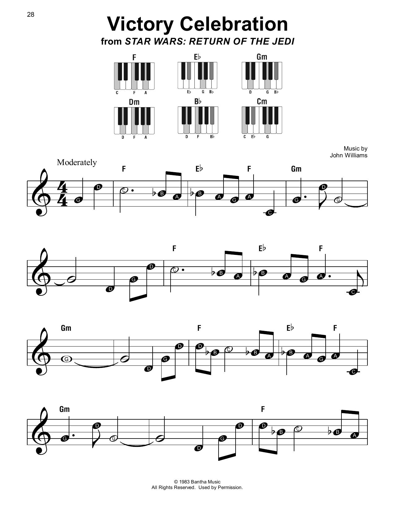 John Williams Victory Celebration (from Star Wars: Return Of The Jedi) sheet music notes printable PDF score