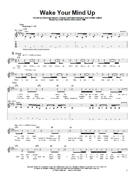 311 Wake Your Mind Up sheet music notes printable PDF score