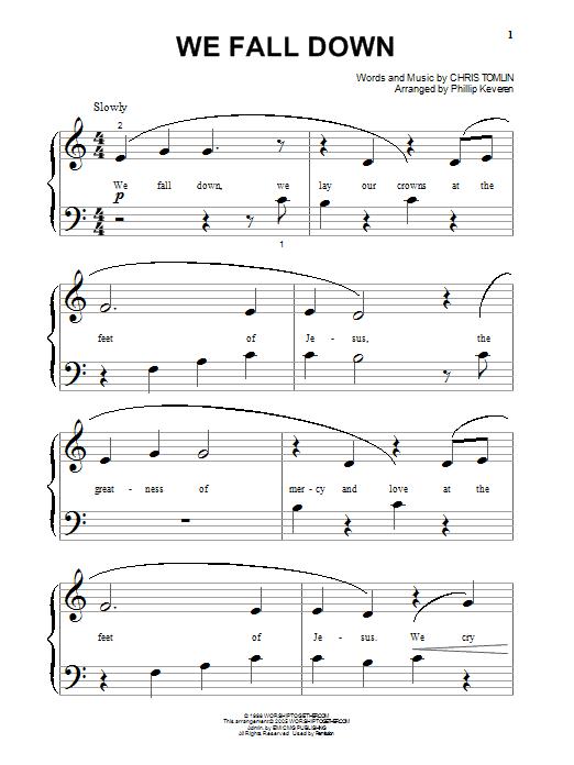 Chris Tomlin We Fall Down sheet music notes printable PDF score