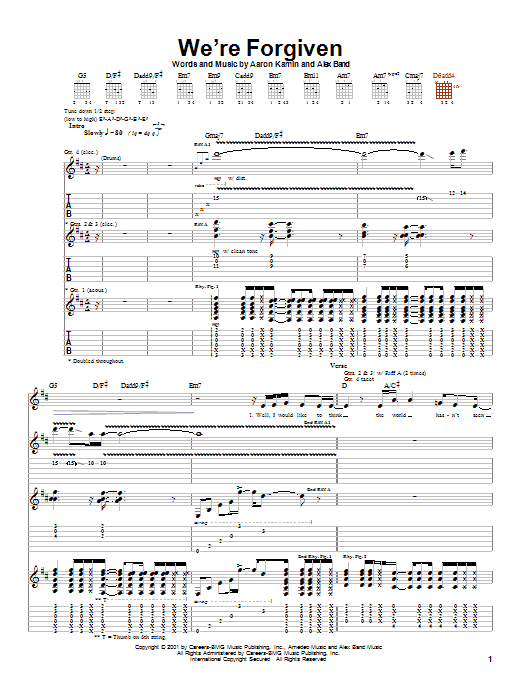 The Calling We're Forgiven sheet music notes printable PDF score