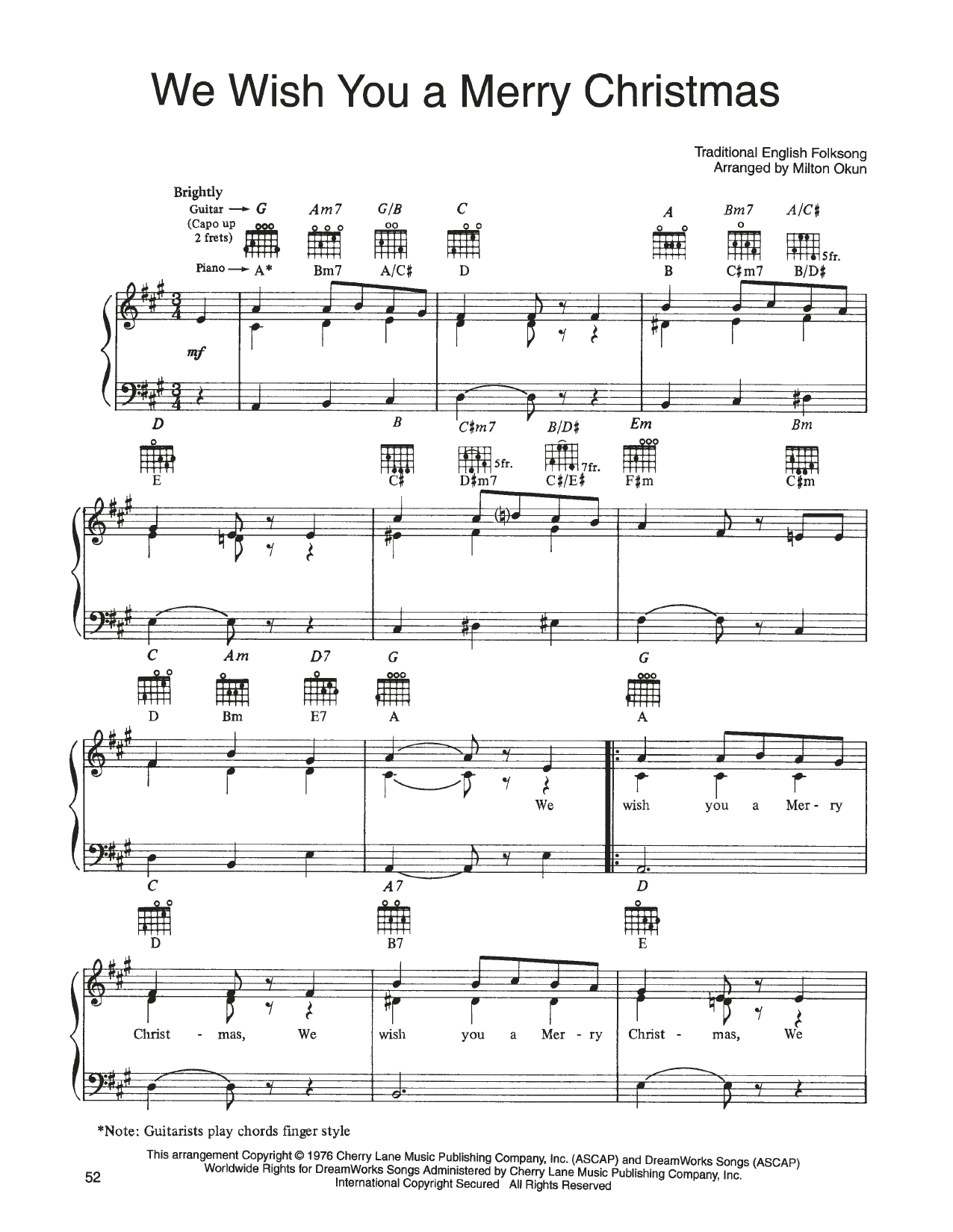 John Denver and The Muppets We Wish You A Merry Christmas (from A Christmas Together) sheet music notes printable PDF score