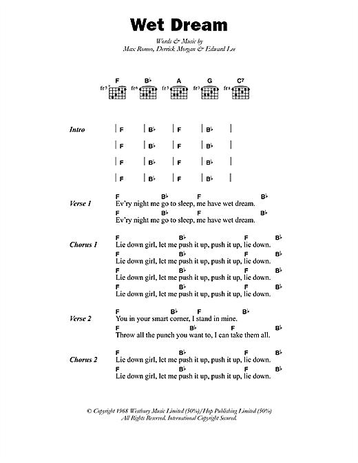 Max Romeo Wet Dream sheet music notes printable PDF score