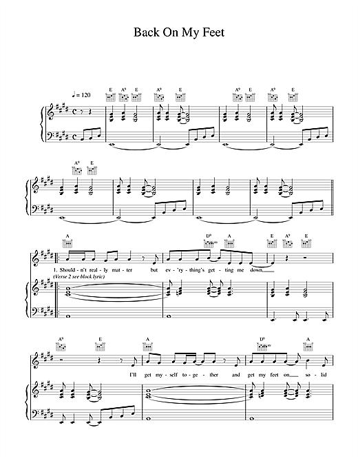 Wet Wet Wet Back On My Feet sheet music notes printable PDF score