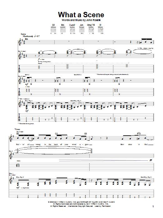 Goo Goo Dolls What A Scene sheet music notes printable PDF score