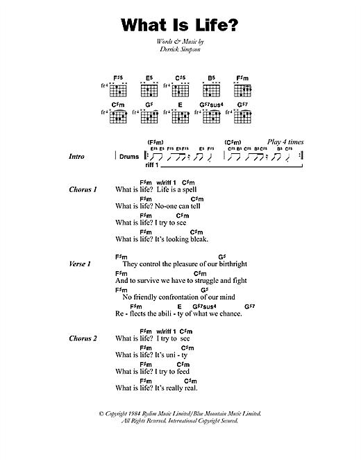 Black Uhuru What Is Life? sheet music notes printable PDF score