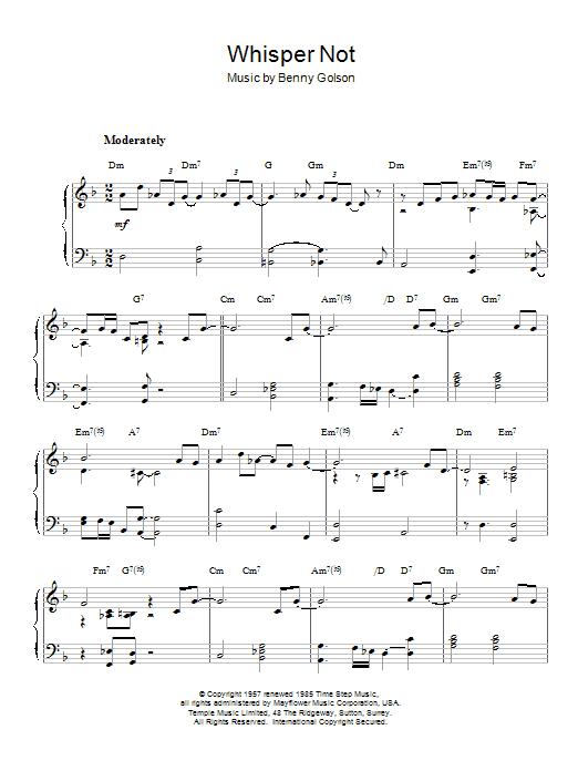 Antonio Carlos Jobim Whisper Not sheet music notes printable PDF score