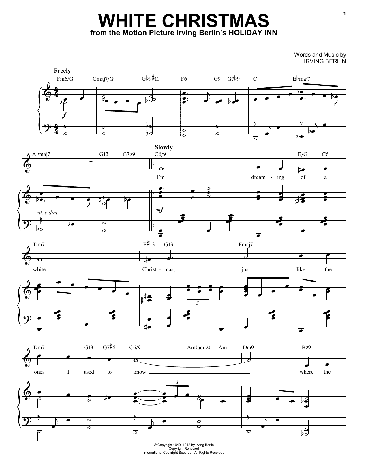 Irving Berlin White Christmas [Jazz Version] (arr. Brent Edstrom) sheet music notes printable PDF score