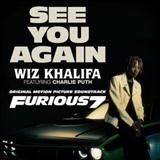 Wiz Khalifa See You Again (feat. Charlie Puth) Sheet Music and Printable PDF Score | SKU 121590