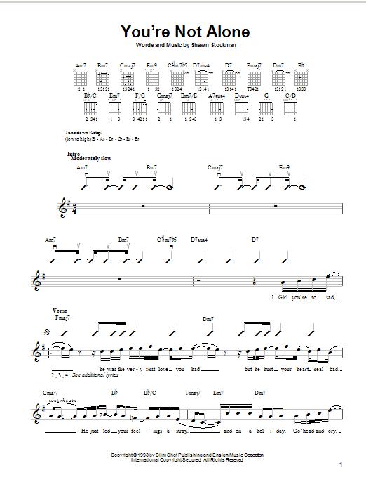 Boyz II Men You're Not Alone sheet music notes printable PDF score