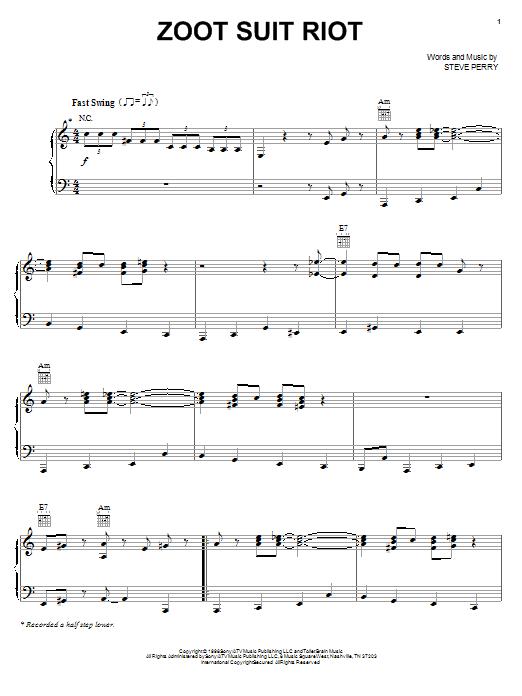 Cherry Poppin' Daddies Zoot Suit Riot sheet music notes printable PDF score